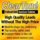 ClearTone instrument, microphone and speaker cables, top quality audio leads without the high price