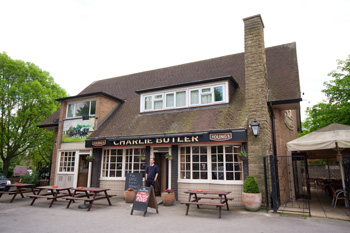 The Charlie Butler pub, live music venue in Mortlake, nr. East Sheen & Barnes.